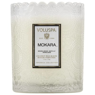 VOLUSPA ??? ?? ?? SCALLOPED EDGE EMBOSSED GLASS CANDLE