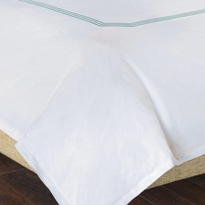 Eastern Accents tessa white/lake duvet cover