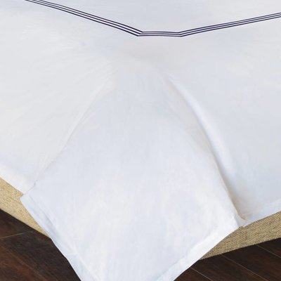 Eastern Accents Tessa White/Navy Sheet Set Queen