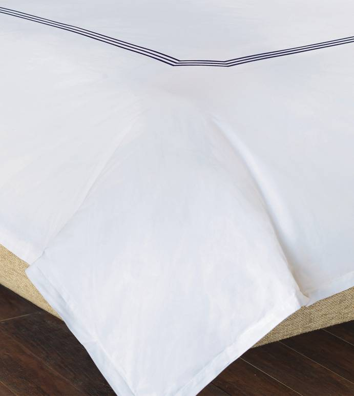 a7bf95722482 Eastern Accents Tessa White Navy Sheet Set Queen - PLANTECOR