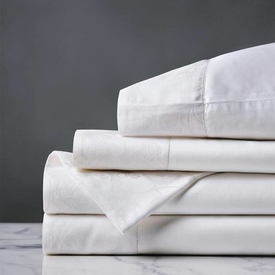 Eastern Accents Henna White Sheet set Queen