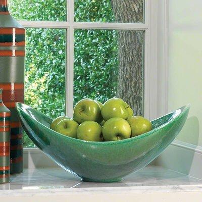 Global Views Swoop Bowl- Emerald
