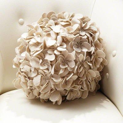 Global Views Komaki Ball Pillow-Ivory