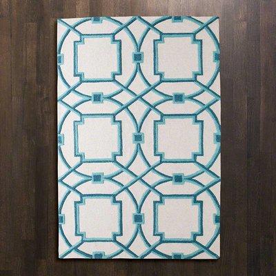 Global Views Arabesque rug Aqua 9*12