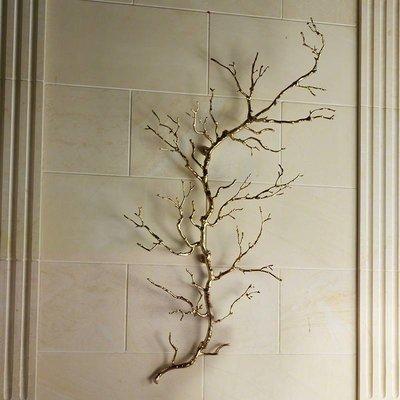 Global Views Twig Wall Art-Brass