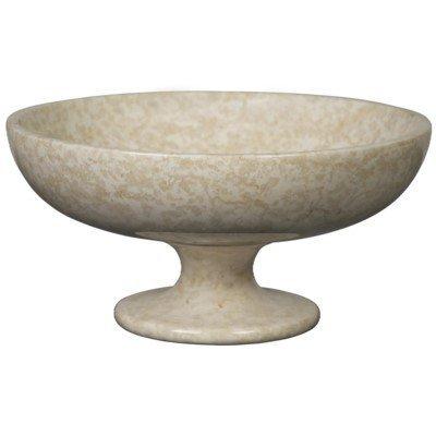 Noir BOWL W/Pedestal White Marble