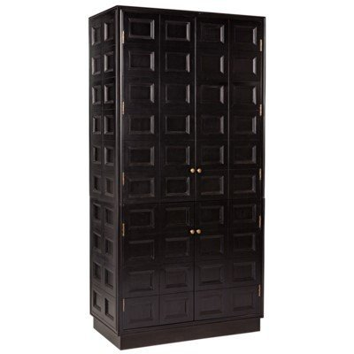 Noir Wyatt Hutch,Charcoal Finish