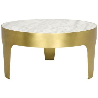 Noir Cylinder round coffee table
