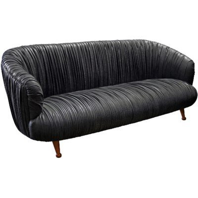 Noir Bertha sofa, fully upholstered, 84.5*38*34