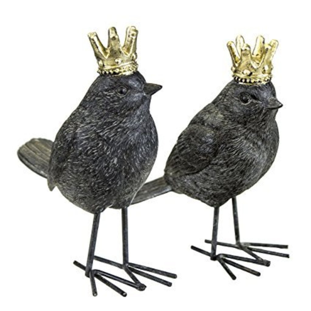 sagebrook 2/ASST BIRDS W/CROWNS,RUST