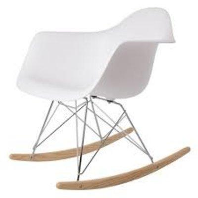Carl Molded PP Rocker Chair, White