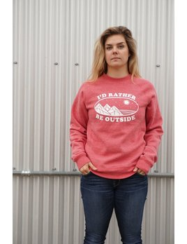 OUTTABOUNDS I'D RATHER BE OUTSIDE RAGLAN CREWNECK SWEATSHIRT