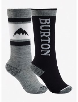 BURTON BURTONS KIDS WEEKEND MIDWEIGHT SOCK- 2 PACK