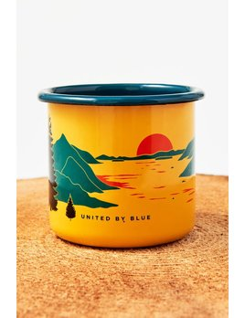 UNITED BY BLUE UNITED BY BLUE INLET ENAMEL STEEL MUG
