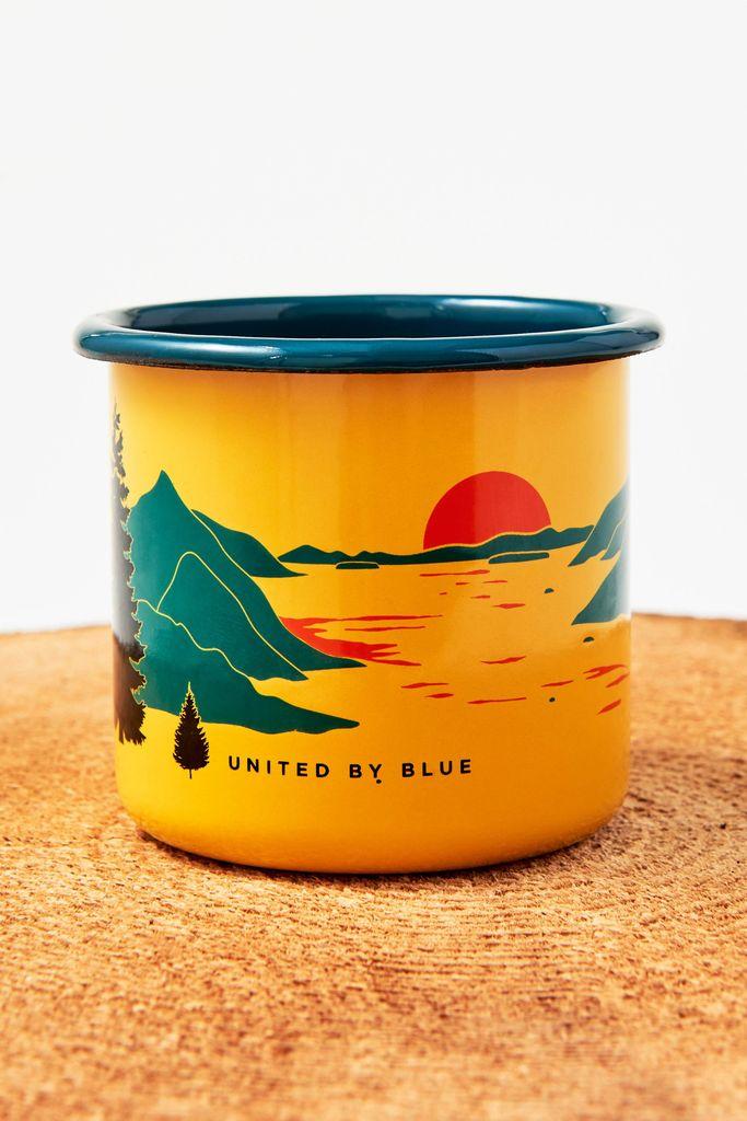 UNITED BY BLUE UNITED BY BLUE INLET ENAMEL STEEL MUG