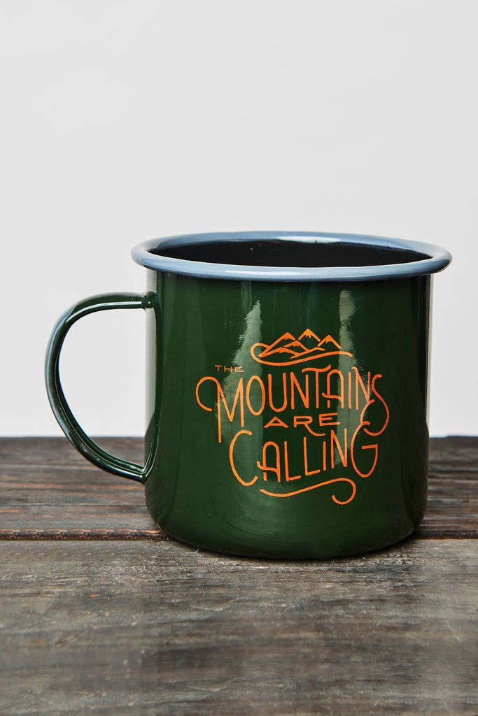 UNITED BY BLUE UNITED BY BLUE MOUNTAINS ARE CALLING 22oz ENAMEL STEEL MUG