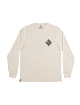 SALTY CREW SALTY CREW M'S ISLAND TIME WHITE L/S TECH TEE