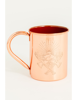 UNITED BY BLUE UNITED BY BLUE AXE CREST 14oz ENAMEL LINED COPPER MUG