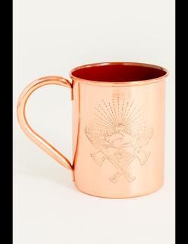 UNITED BY BLUE United By Blue Axe Crest 14oz Enamel-Lined Copper Mug