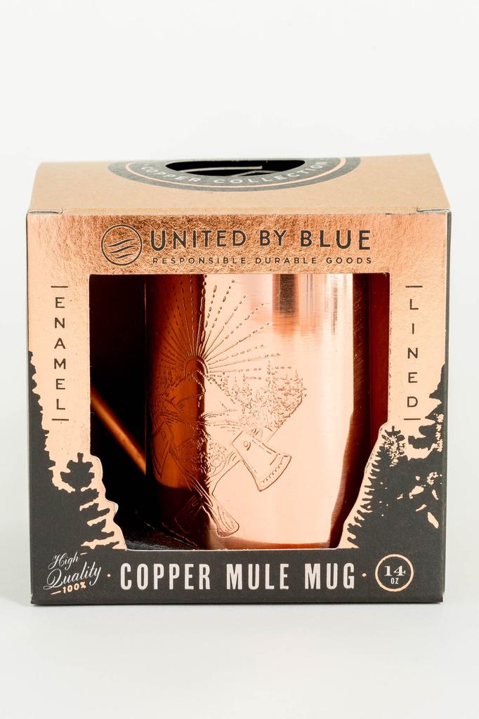 UNITED BY BLUE UNITED BY BLUE AXE CREST 14oz ENAMEL LINED COPPER MUG