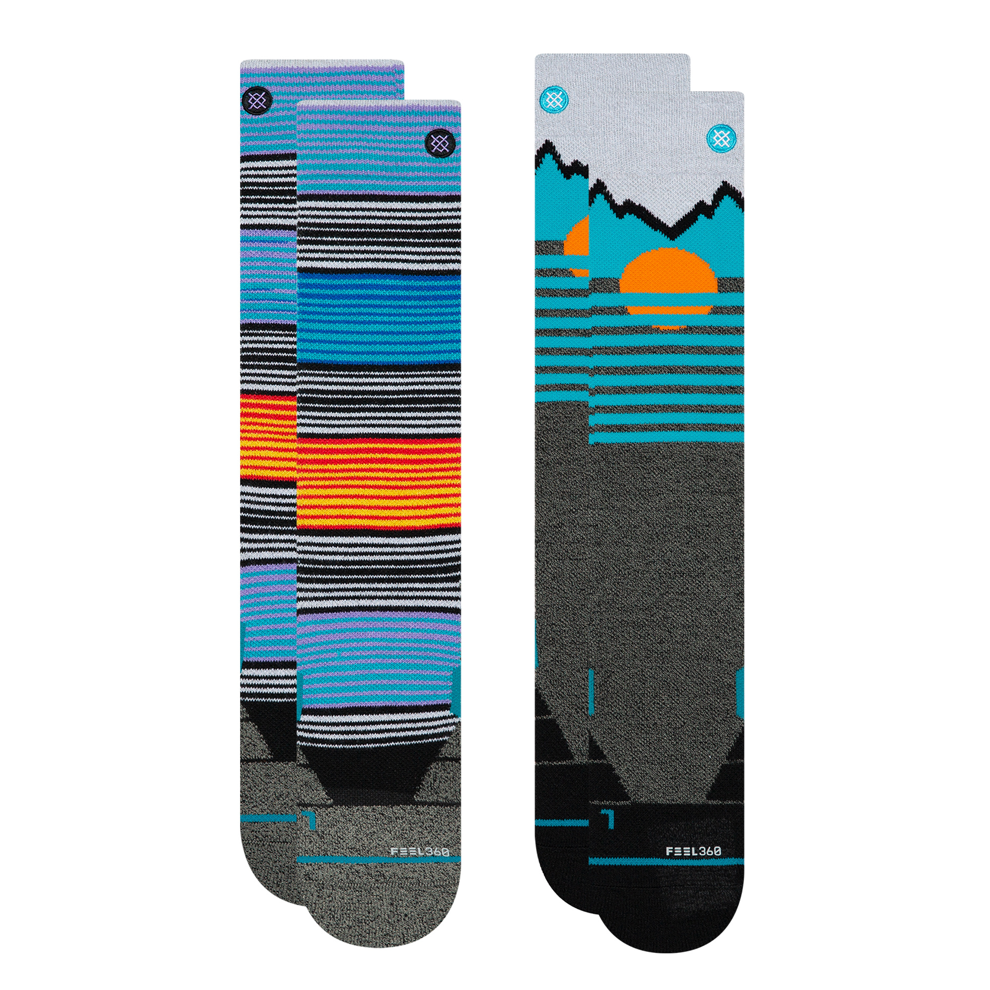 STANCE STANCE M'S MOUNTAIN 2-PACK SNOW SOCK