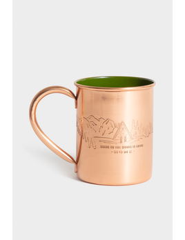 UNITED BY BLUE UNITED BY BLUE TO THE WOODS COPPER ENAMEL LINED MUG