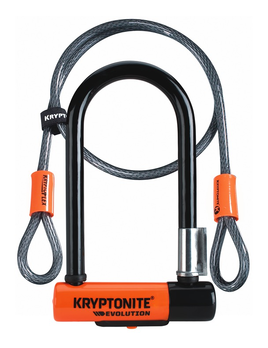 KRYPTONITE Kryptonite +Evolution Mini-7 with 4' Flex Cable Lock