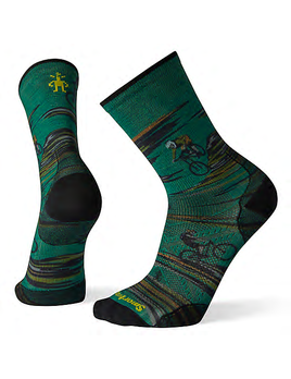 SMART WOOL Smartwool PhD Cycle Ultra Light Dialed Print Crew Socks