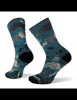 SMARTWOOL Smartwool M's PhD Outdoor Light Mountain Camo Print Hiking Crew Socks