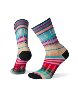 SMART WOOL Smartwool W's Curated Drippy Stripes Crew Socks