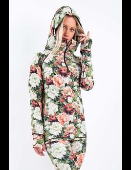 Eivy Eivy Women's Autumn Bloom Icecold Zip Hood Top