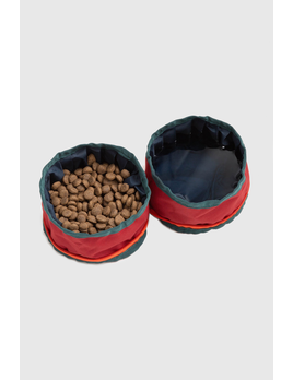 UNITED BY BLUE United By Blue Collapsible Double Dog Bowl