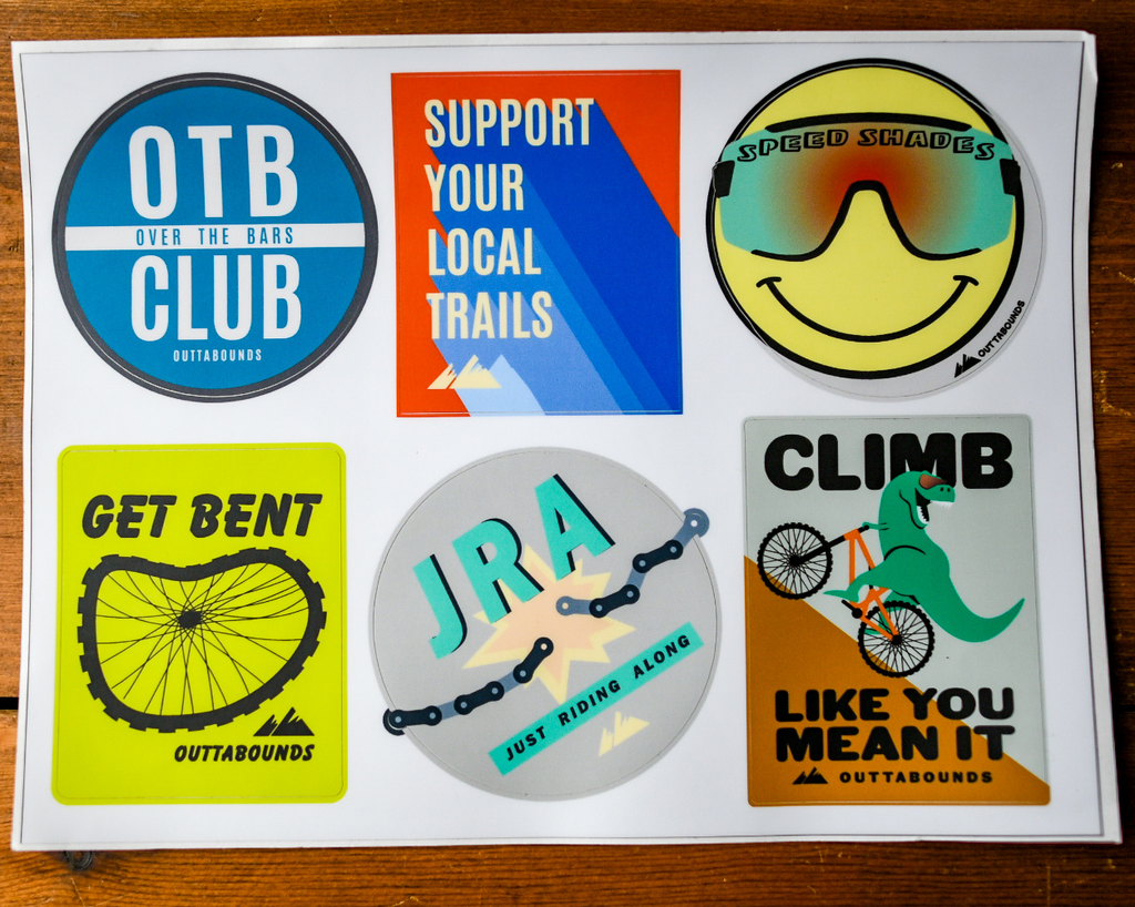 Outtabounds 6-pack Outtabounds Bike Stickers