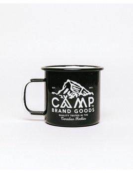 CampBrand Goods Camp Brand Peak Logo Enamel Mug