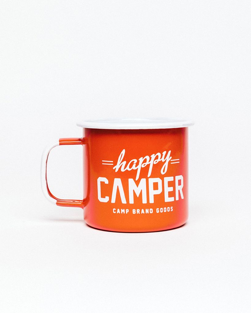 CAMPBRAND GOODS PLENTY HAPPY CAMPER ENAMEL MUG