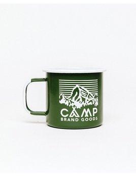 CampBrand Goods Camp Brand Heritage Logo Enamel Mug