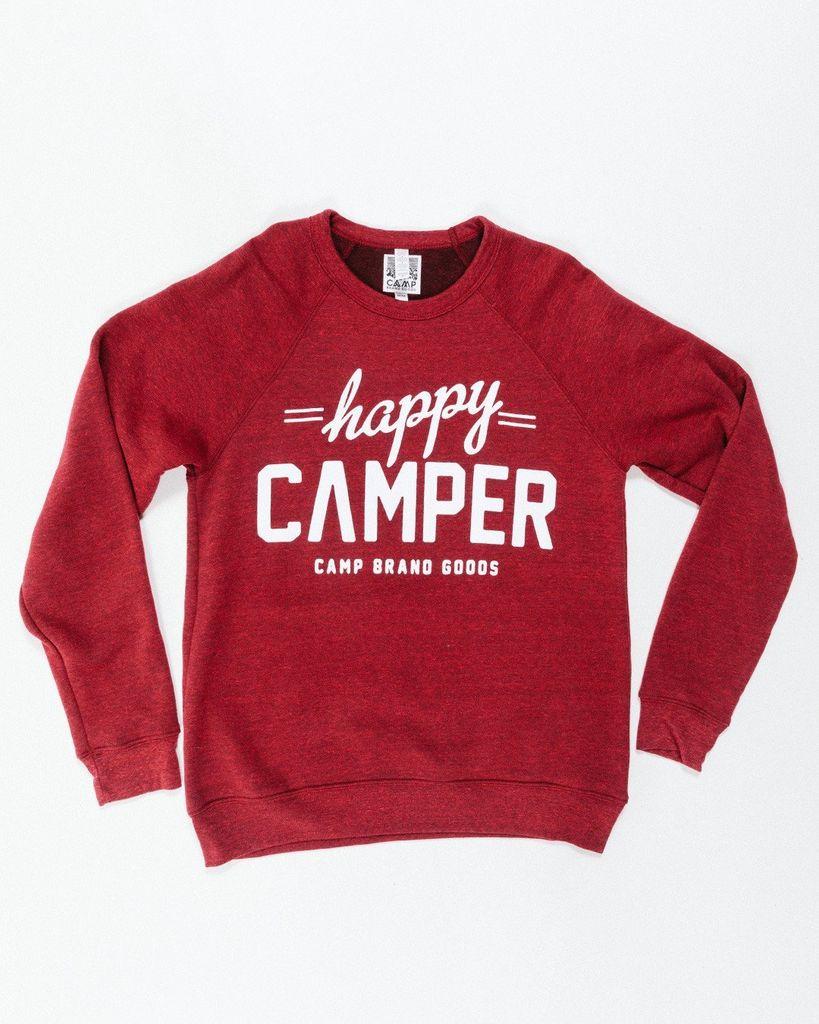 CAMPBRAND GOODS HAPPY CAMPER CREWNECK