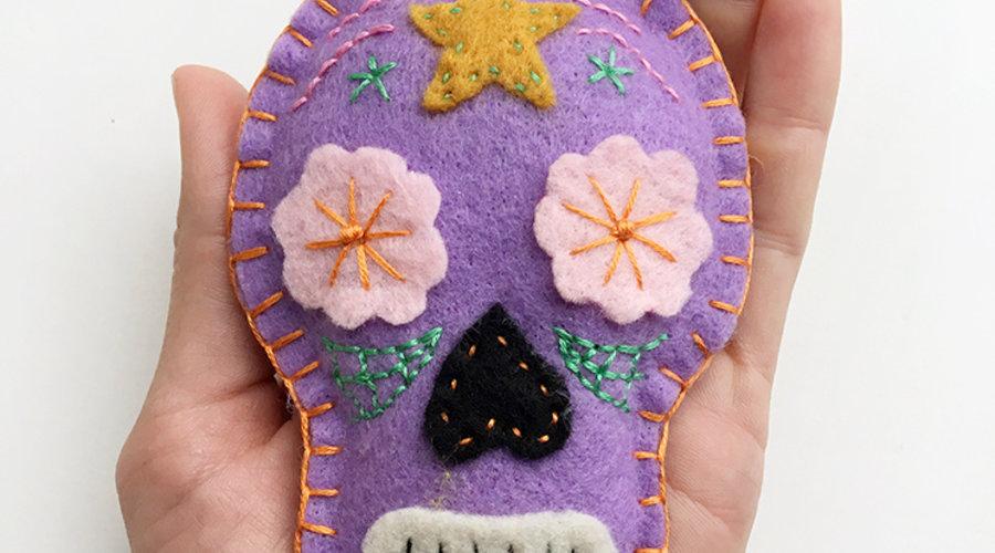 DIY: Stitched Felt Sugar Skulls