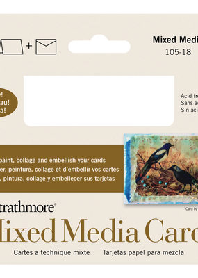 Strathmore Strathmore Mixed Media Cards And Envelopes 3.5 x 4.875 Inch