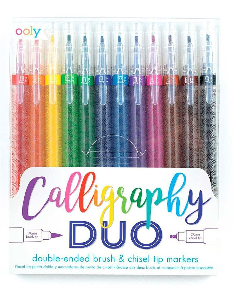 Ooly Calligraphy Duo Double Ended Markers Set Of 12
