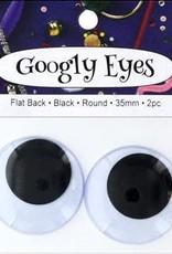 PA Essentials Googly Eyes 35 mm Black 2 Piece