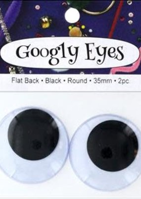 PA Essentials Googly Eyes 35 mm Black 2 Piece