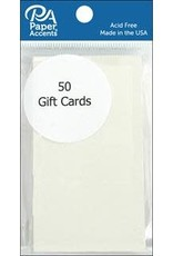Paper Accents Gift Card 2 x 3.5 Cream 50 Pieces