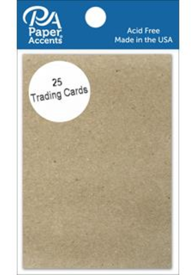 Paper Accents Trading Cards 2.5 x 3.5 Chipboard 25 piece