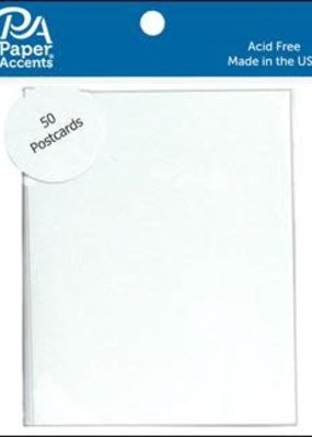 Paper Accents Post Cards 4.25 x 5.5 Blank 50 Piece White