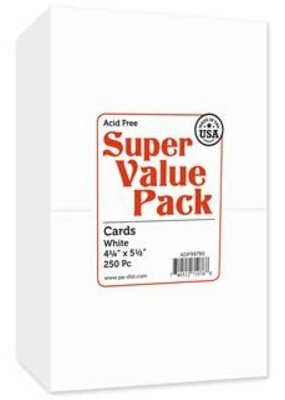 Paper Accents Super Value Card Pack 4.25 x 5.5 250 Piece White