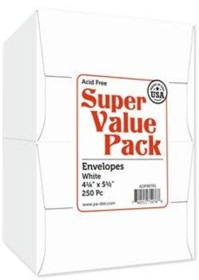 Paper Accents A2 Super Value Envelopes Pack 4.25 x 5.5 250 Piece White
