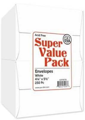 Paper Accents Super Value Envelope Pack 4.25 x 5.5 250 Piece White