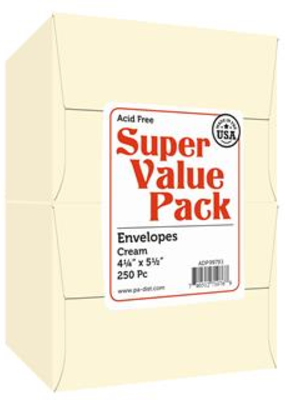 Paper Accents Super Value Envelope Pack 4.25x5.5 250pc Cream
