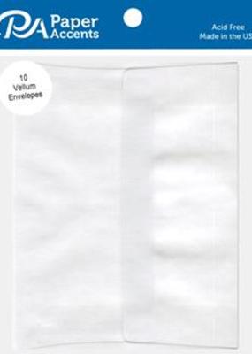 Paper Accents A2 Envelopes 4.25 x 5.75 10pc White Vellum